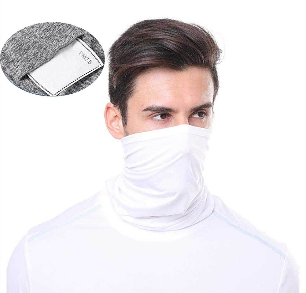 PM2.5 Tube Neck Scarf With Filter Pocket Face Dust Proof Multifunctional Sport Headwear Outdoor Sport Bandanas