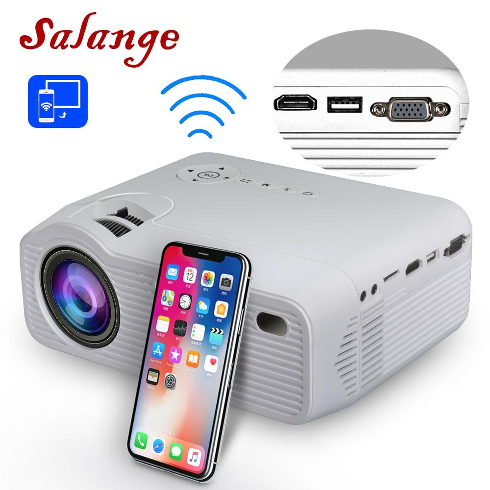 Mini projecteur Salange P40W pour iPhone, HDMI, VGA, 3500 Lumens, affichage de synchronisation sans fil pour téléphone portable, projecteur LED pour Home cinéma