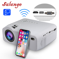 Salange P40W Mini Projector for iPhone,HDMI,VGA,3500 Lumens,Wireless Sync Display For mobile Phone,LED Beamer for Home Theater
