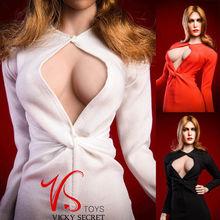 VSTOYS 18XG31 1/6 Female Women White Evening Dress Clothing F 12 Action Figure