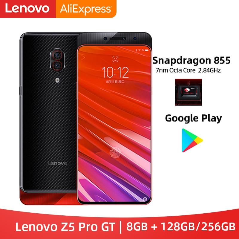 Original Lenovo Z5 Pro GT Snapdragon 855 Smartphone 8GB RAM 128GB / 256GB ROM 6.39'' In-Screen Fingerprint Android 24MP
