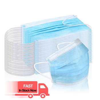 10/50Pcs 3 Layer Anti-Dust Disposable Breathing Safety Face Mouth Masks Earloops Masks