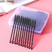 50 pcs Disposable Eyelash Eyebrow Brushes Mascara Wand Curler Applicator Eyelashes Cosmetic Brushes