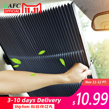 Car Retractable windshield Sun Shade Block sunshade cover Front Rear window foil Curtain for Solar UV protect 46/65/70cm