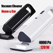 купить 4000 Pa 12 W strong suctions Vacuum cleaner wet and dry dual use aspirador handheld car portable vacuum cleaner white black дешево