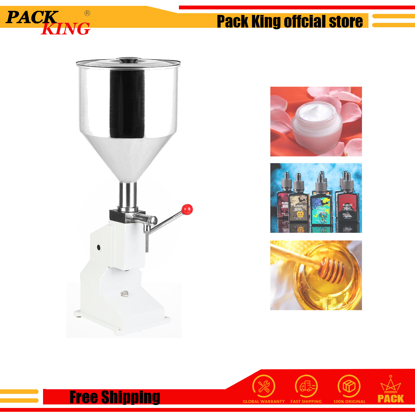 Manual Cream Honey Paste Filling Machine Shampoo Liquid Cosmetic Paste Oil Honey Drink Perfume Hand Press Filler Free Shipping