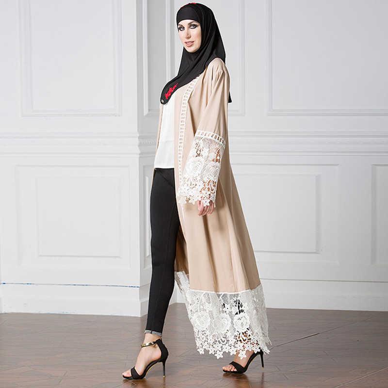 Plus rozmiar 5xl muzułmańska otwarta sukienka abaya kobiety Kaftan Kimono Jubah sznurowane turcja zea islamska odzież długa suknia Jilbab Kaftan
