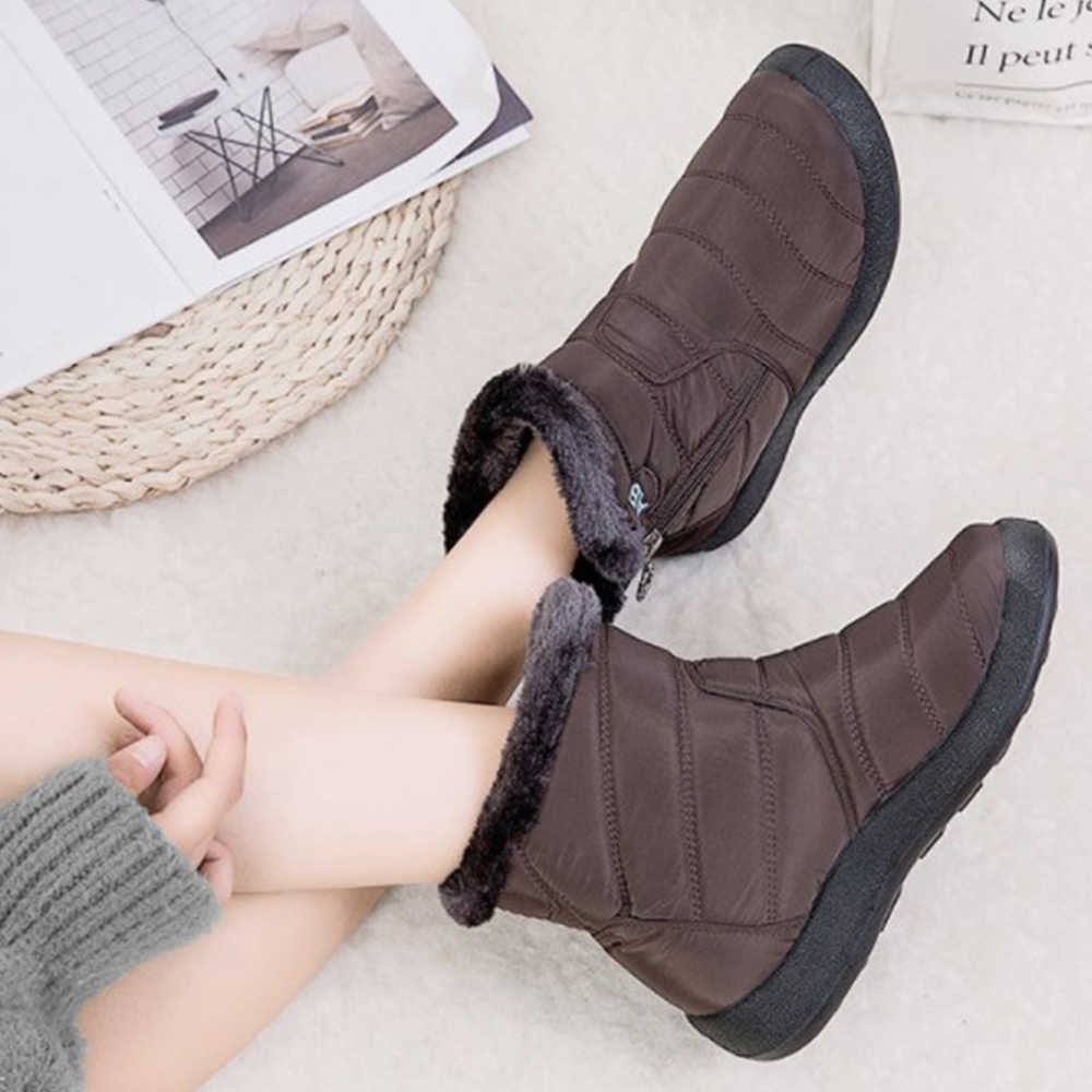 Fashion Unisex Winter Warm Ankle Boots Mens Womens Fur Lining Snow Booties Shoes