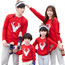 2019 New Matching Family Christmas Family-friendly Long-sleeved with One-piece T-shirt Clothes