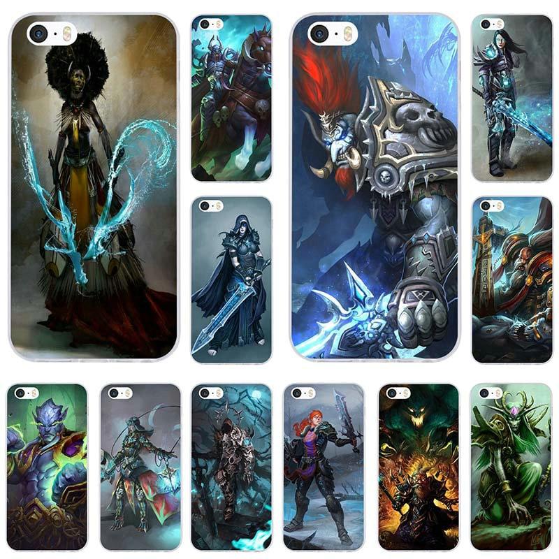 Чехол World Of Warcrafts для iPhone 8 7 6 6S Plus X XR XS Max 5 мобильный телефон SE 5C 4 сумки