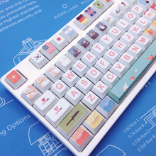 All Nations Christmas PBT Sublimation Keycap Original Height Mechanical Keyboard Dedicated Cherry Blossom Little Bee