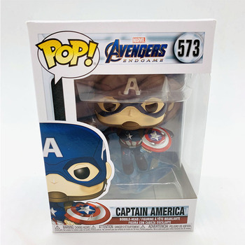 Funko Pop Marvel Avengers CAPTAIN AMERICA #573 Vinyl Figure Dolls Toys Marvel Action Figures 2