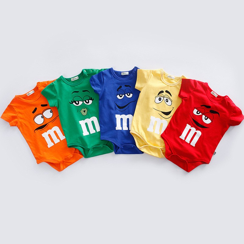 100% Cotton Newborn Baby Summer Rompers Infant Body Short Sleeve Baby Jumpsuit Cartoon Ropa Bebe Baby Boy Girl Clothes