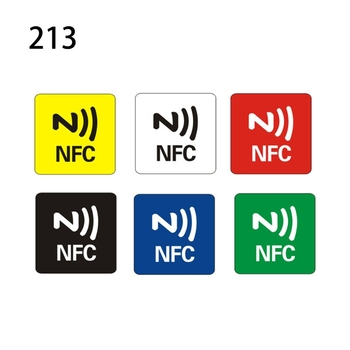 6pcs NTAG216/NTAG213 NFC Tags Sticker Phone Available Adhesive Labels RFID Shipp 20pcs ntag215 nfc tags sticker phone available adhesive labels rfid tag 25mm