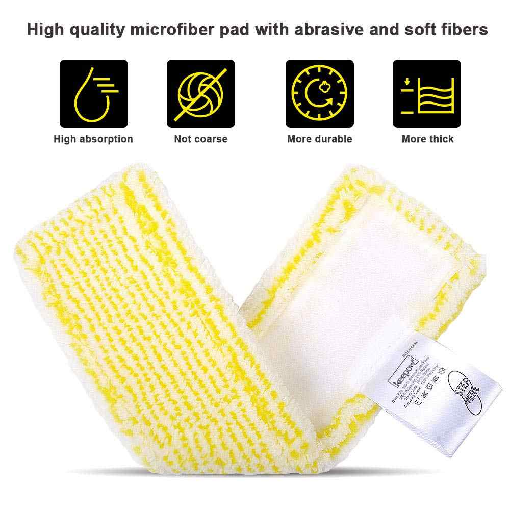 2x Cover microfibre yellow for Kärcher WV 75 Plus 2.633-100.0
