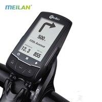 Meilan m1 bicicleta gps computador navegação gps ble4.0 velocímetro conectar com cadência/hr monitor/medidor de energia (para não incluir)