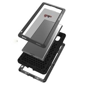 Image 5 - Etui na całe ciało do Sony Xperia XA1 Plus Ultra XZ XZ1 XA2 XA Ultra 2, odporna na wstrząsy metalowa osłona na zbroję do Sony XA Case + szkło Gorilla