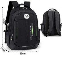 Black Children Mickey School Bags Kids Backpack In Primary Schoolbag for Girls Boys Waterproof Backpacks High Capacity
