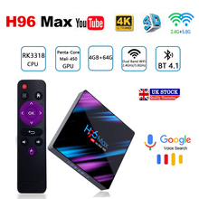лучшая цена h96 max android tv box RK3318 iptv subscription m3u tv box android 9.0 4 g 64gb 4K youtube Smart tv Media Player USB 3.0 WIFI