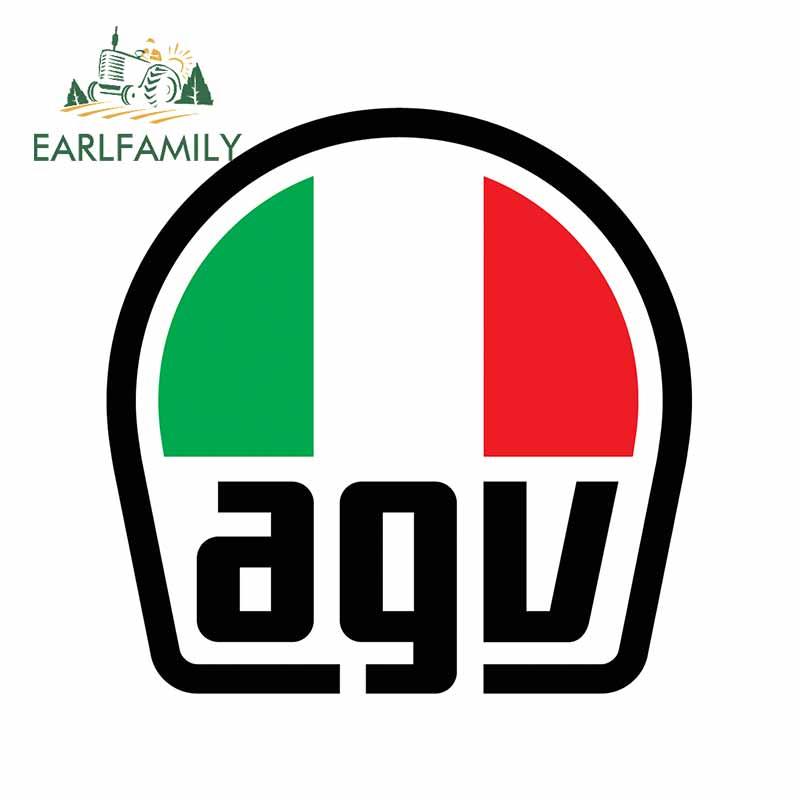 EARLFAMILY 13cm For AGV Personality Car Sticker Waterproof Decal Scratch-proof Auto Air Conditioner Windshield Decoration