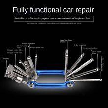 Цветной многофункциональный инструмент 11 в 1 для ремонта автомобиля