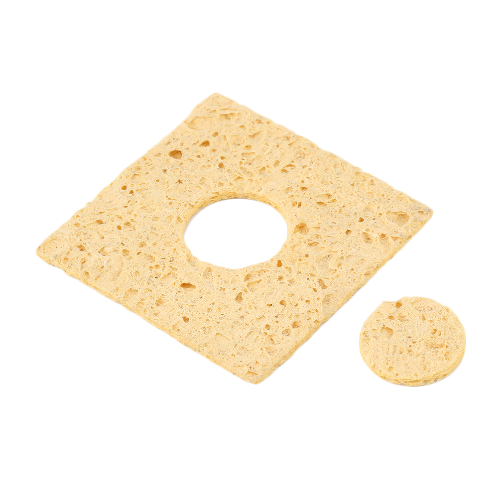 Yellow 1pc Soldering Iron Tip Welding Cleaning Sponge For 936 Exquisitely Designed Durable