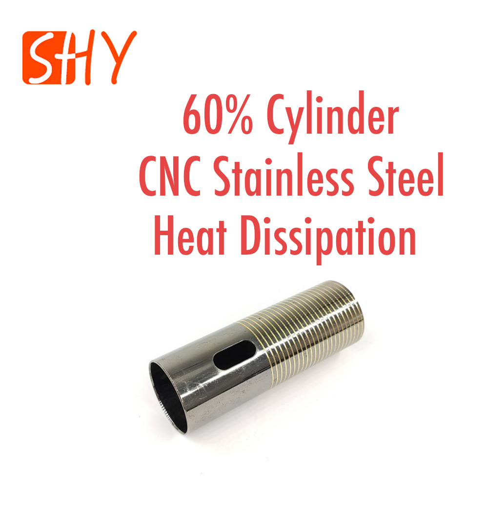 Gear Box Parts Stainless Steel Heat Dissipation 60% Cylinder For Water Gel Ball Blaster AEG Airsoft