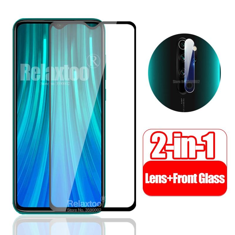 2in1 Camera Lens Glass For xiaomi redmi note 8 pro 3D screen protector xaomi redmi note 7 7a 6a 6 5 plus protective safety Film(China)