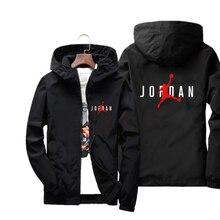 Jordan 23 jaquetas masculinas impressas casacos masculinos moda streetwear casual à prova de vento jaqueta bomber inverno 2019 outono casacos com zíper