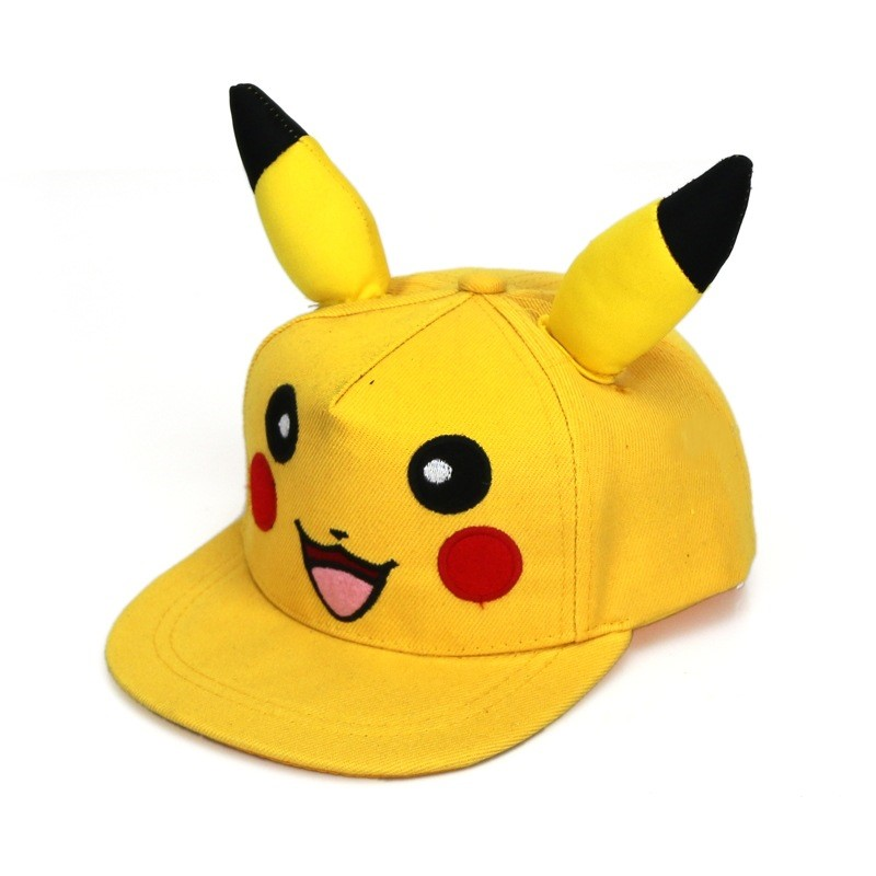 anime-font-b-pokemon-b-font-pikachu-cosplay-hat-yellow-baseball-cap-halloween-fans-gift-cosplay-props-gift-drop-ship