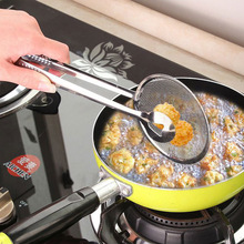 купить Creative Filter Spoon with Clip Multi-functional Stainless Steel Colander Oil-Frying Filter Fried Food Fried Chicken Drumsticks дешево