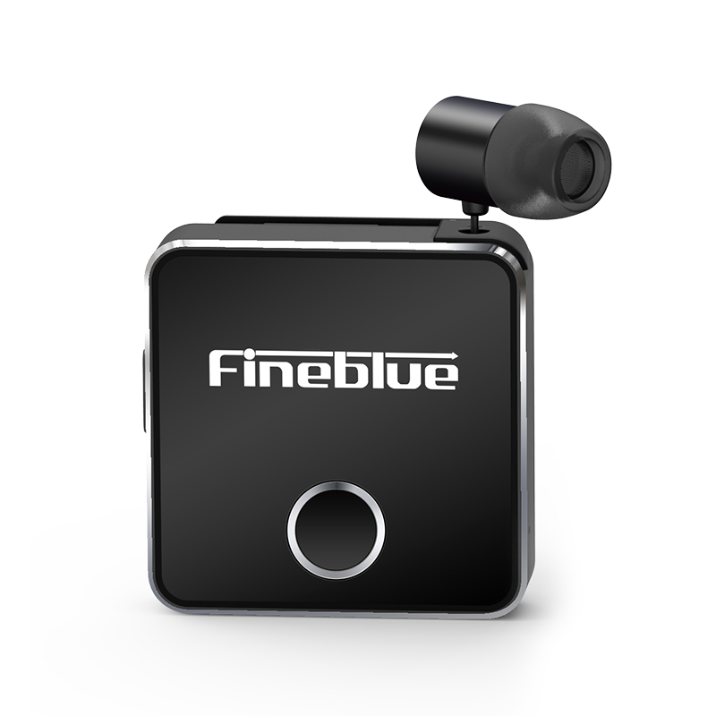 Fineblue F1 pro Bluetooth 5 0 Headphone Clip-on Cable Retractable Earphone Wireless Music Headset Vibration Alert Hands-free Mic