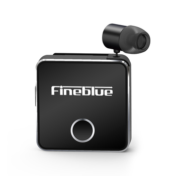 Fineblue F1 pro Bluetooth 5.0 Headphone Clip-on Cable Retractable Earphone Wireless Music Headset Vibration Alert Hands-free Mic