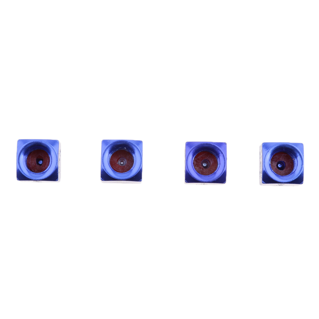 4Pcs Car Truck Motocycle Dice Shape Wheel Tire Valve Stem Cover Cap (Blue)