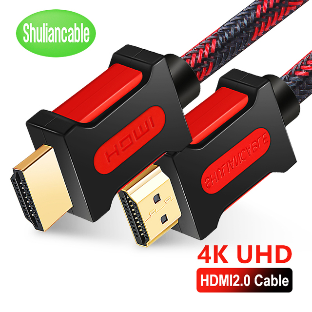 Shuliancable HDMI кабель 2,0 HDMI к HDMI 4K 1080P 3D 1 м 2 м 3 м 5 м 10 м 15 м 20 м для ноутбук с HDTV проектор xbox PS3/4 компьютерный кабель