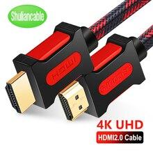 Shuliancable สาย HDMI 2.0 HDMI TO HDMI 4K 1080P 3D 1 M 2 M 3 M 5 M 10 M 15 M 20 M สำหรับ HDTV แล็ปท็อปโปรเจคเตอร์ XBOX PS3/4 สาย