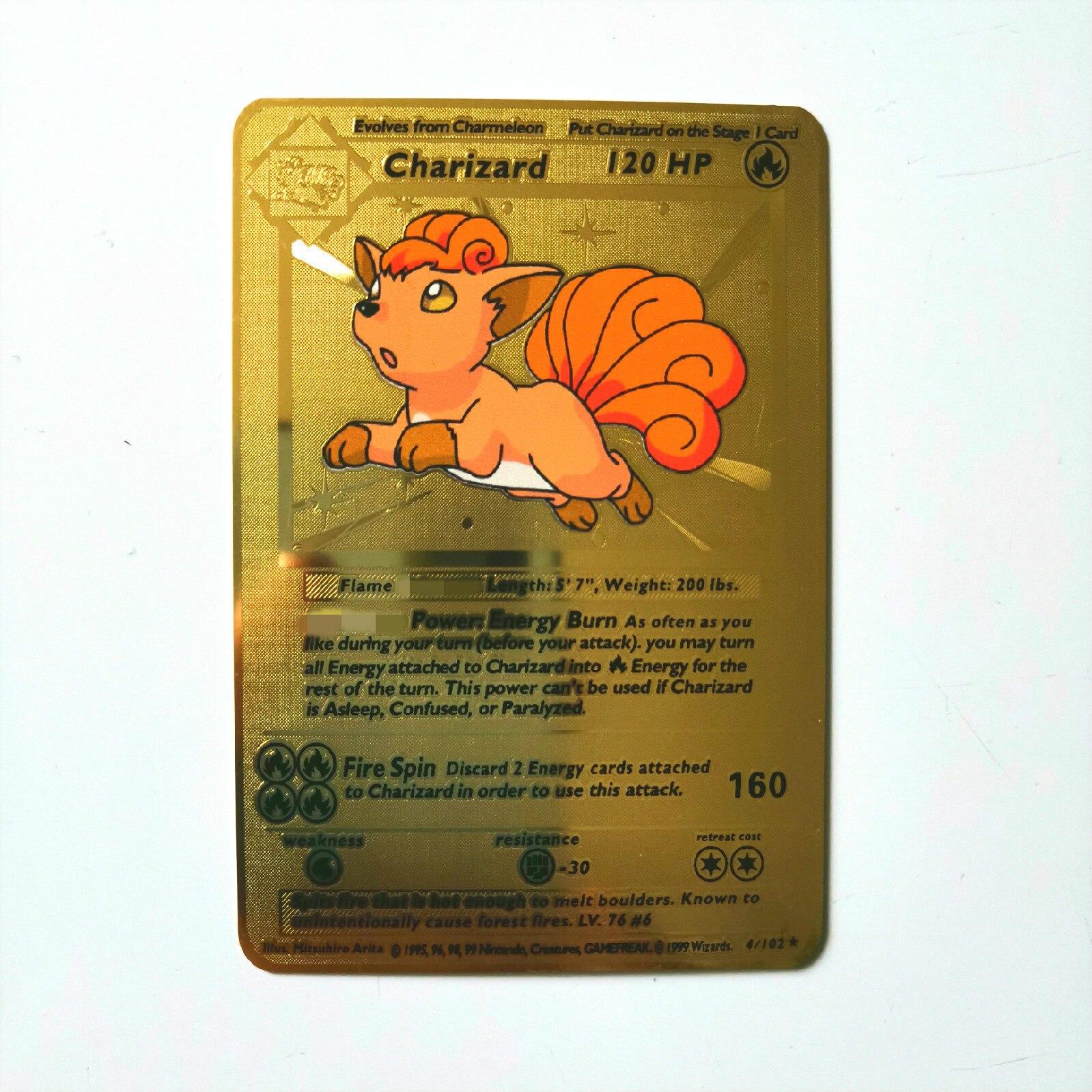 Dragon Ball золотая металлическая карточка супер игра Коллекция аниме-открытки игра детская игрушка - Цвет: J
