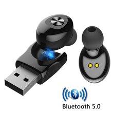 XG12 Bluetooth 5.0 Auricolare Stereo Senza Fili Auricolari HIFI Suono Sport Auricolare Mini Chiamata in Vivavoce Auricolare con Microfono Per Tutto Il Telefono