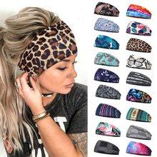 Diadema elastica para mujer, acessórios para o cabelo turbante, bandas estampas para correr, cintas para el gimnasio
