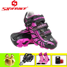 SIDEBIKE pro cycling shoes pink sapatilha ciclismo mtb SPD Pedals 2019 women Ultralight self-locking riding cycling sneakers(China)