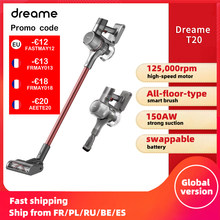 【Promo Code -€13: FRMAY013】Dreame – aspirateur à main sans fil T20, brosse intelligente sur toute la surface, 25kpa, collecteur de poussière tout-en-un, pour tapis de sol
