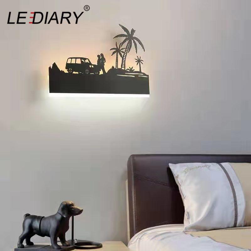 lediary romantico conduziu lampada de parede 02