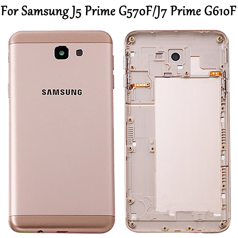 New J7 Prime G610F G610 On7 2016 Metal Back Housing For Samsung Galaxy J5 Prime G570F G570 On5 2016 Back Battery Cover Housing