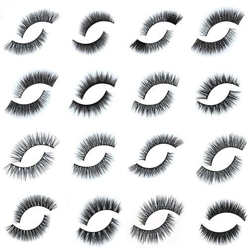 Fashion Mink Hair Soft Long Natural Thick Makeup Eye Lashes False Eyelashes