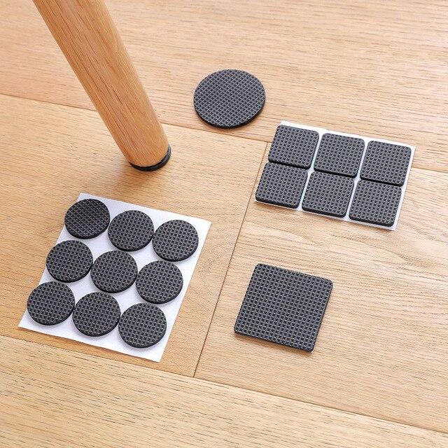 1-24PC Self Adhesive Furniture Leg Feet Rug Felt Pads Anti Slip Mat Bumper Damper For Chair Table Protector Hardware Accessories