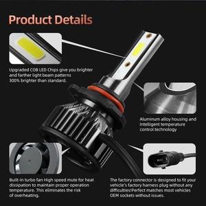 Image 5 - CROSSFOX h7 led H4 for Car Light H11 H9 H8 9004 9007 LED H1 H13 9005 HB3 9006 HB4 9012 Headlight Bulb Auto Lamp 12V 24V 6000K