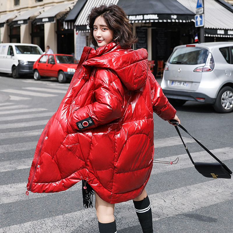 Winter Jacket Women 2019 Female White Duck Down Jacket Long Down Parka Women Hooded Thick Warm Loose Large Size Women Down Coat