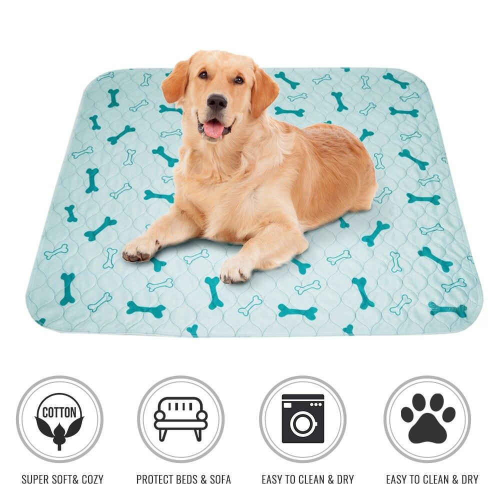 1 PC Pet Pee Pad Printed Waterproof Dog Training Pad Puppy Washable Reusable Absorbing Mats