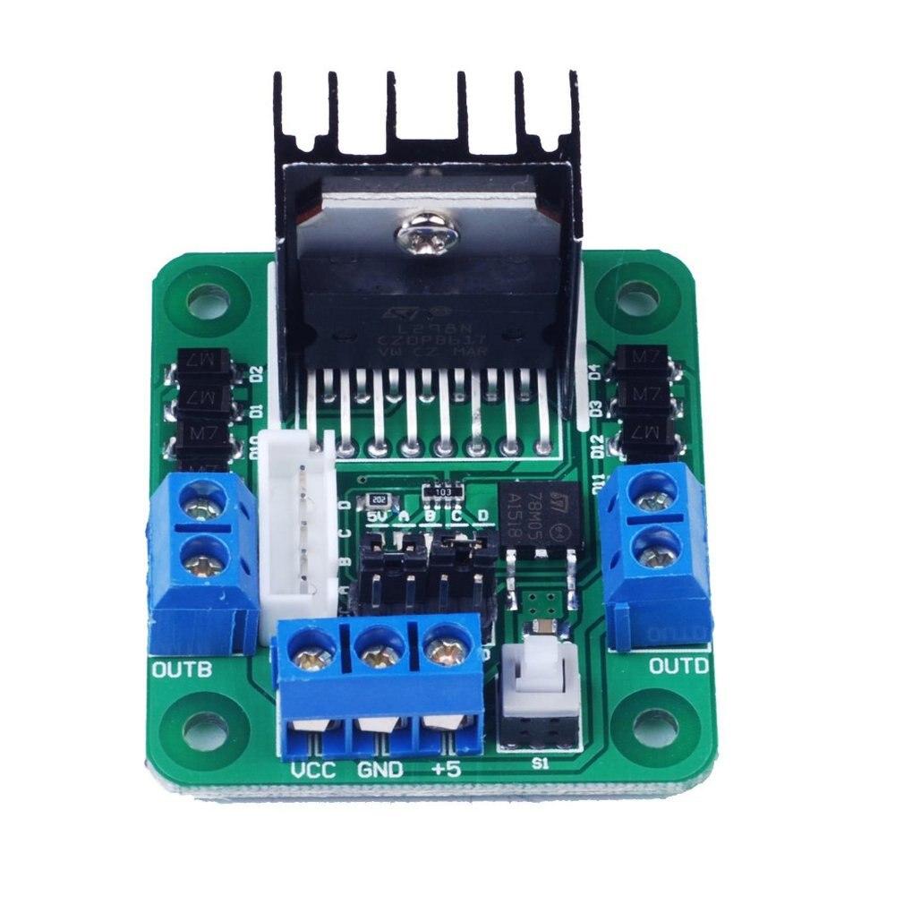 Green Board L298N Motor Drive Board / Stepper Motor, Dc Motor Driver L298