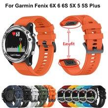 Bracelet de montre intelligente en Silicone, 22 26mm, pour Garmin fenix 6 6s 6x 3HR, pour Garmin Fenix 5X 5 5s